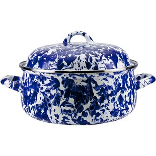 Gadberry 4 Qt. Porcelain Oval Dutch Oven with Lid