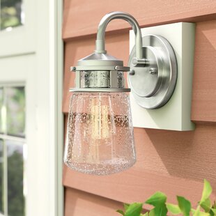 Beachcrest Home Davis 1-Light Outdoor Wall Lantern
