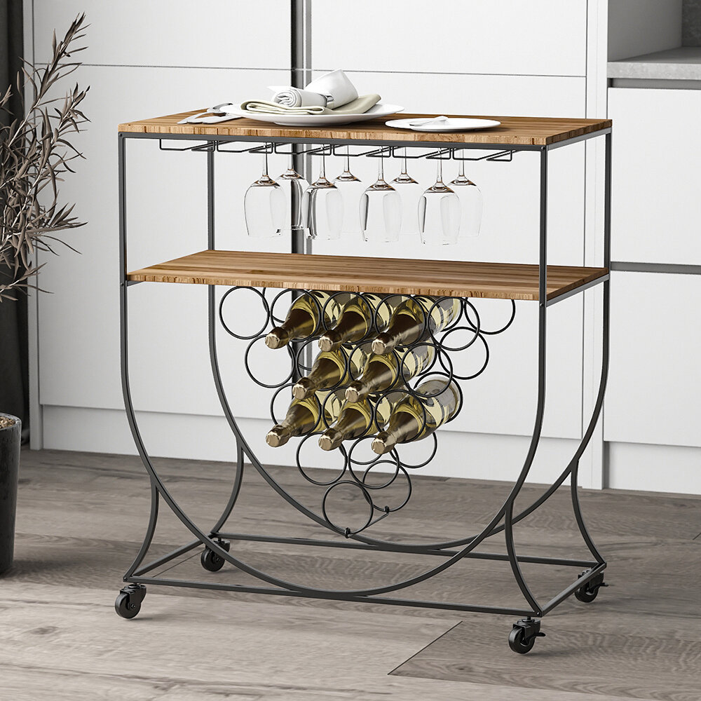 17 Stories Haymarket Arched Dining Bar Cart Wayfair