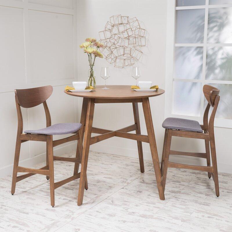 White Cane Outdoor Furniture, Langley Street Santa Cruz 3 Piece Counter Height Dining Set Reviews Wayfair
