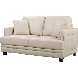Dia Modern Nailhead Loveseat by Willa Arlo Interiors
