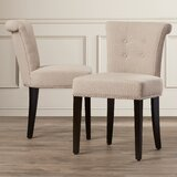 Bowie Tufted Upholstered Side Chair (Set of 2) by Alcott Hill®