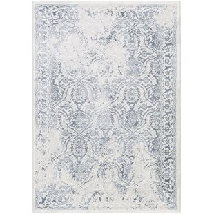Best Price Pickrell Distressed White/Light Gray Area Rug By One Allium Way