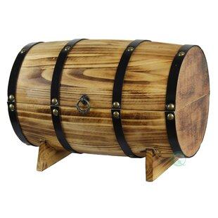 Fleur De Lis Living Cedar Wooden Wine Barrel Treasure Chest