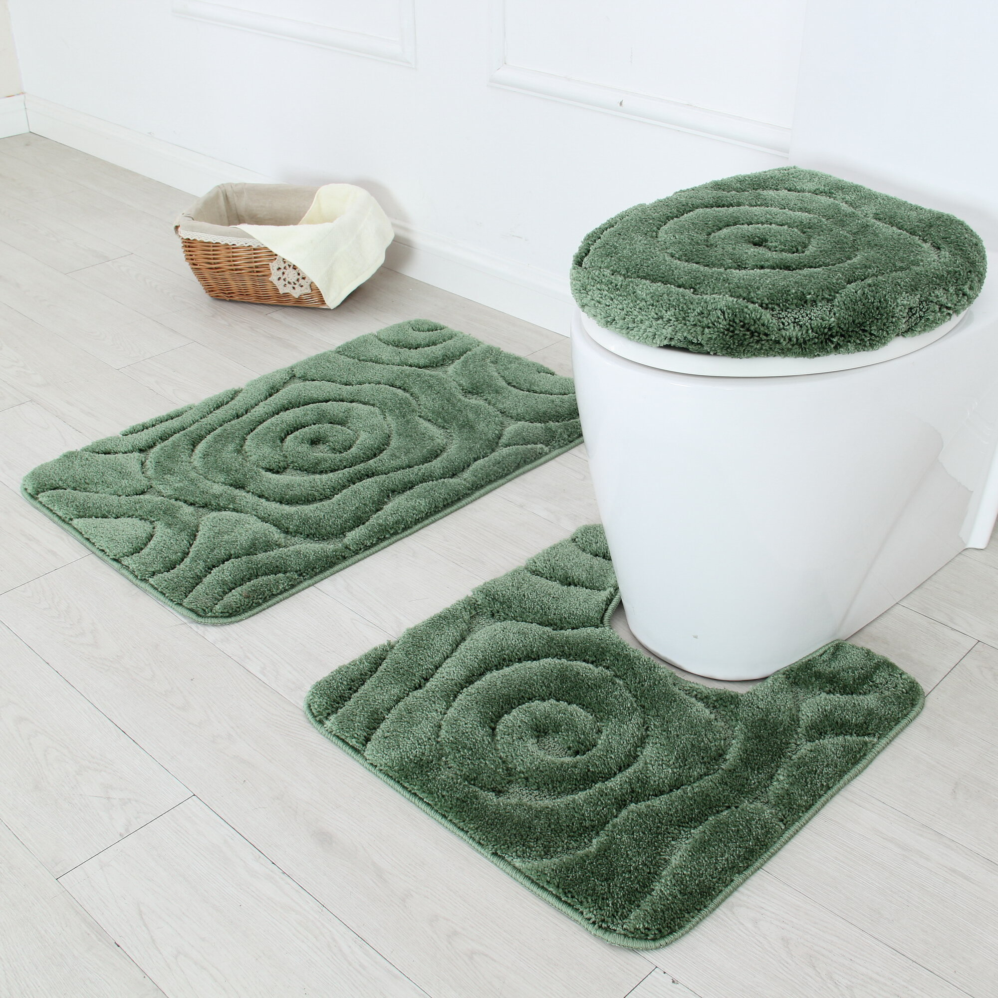 bath free shipping bathroom piece jean overstock hers set product rug today cotton his pierre bedding