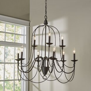 Candle chandeliers youll love wayfair kollman 9 light candle style chandelier aloadofball Image collections