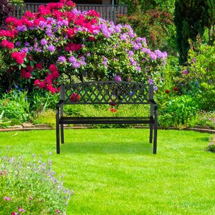 Winnie Steel And Cast Iron Bench By Brambly Cottage