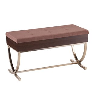 House of Hampton Everdeen Tufted Lift Top Storage Bench