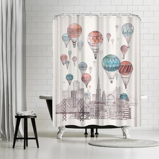 David Fleck Voyages Over San Francisco Single Shower Curtain