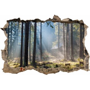 Hazy Forest Road Wall Sticker By East Urban Home