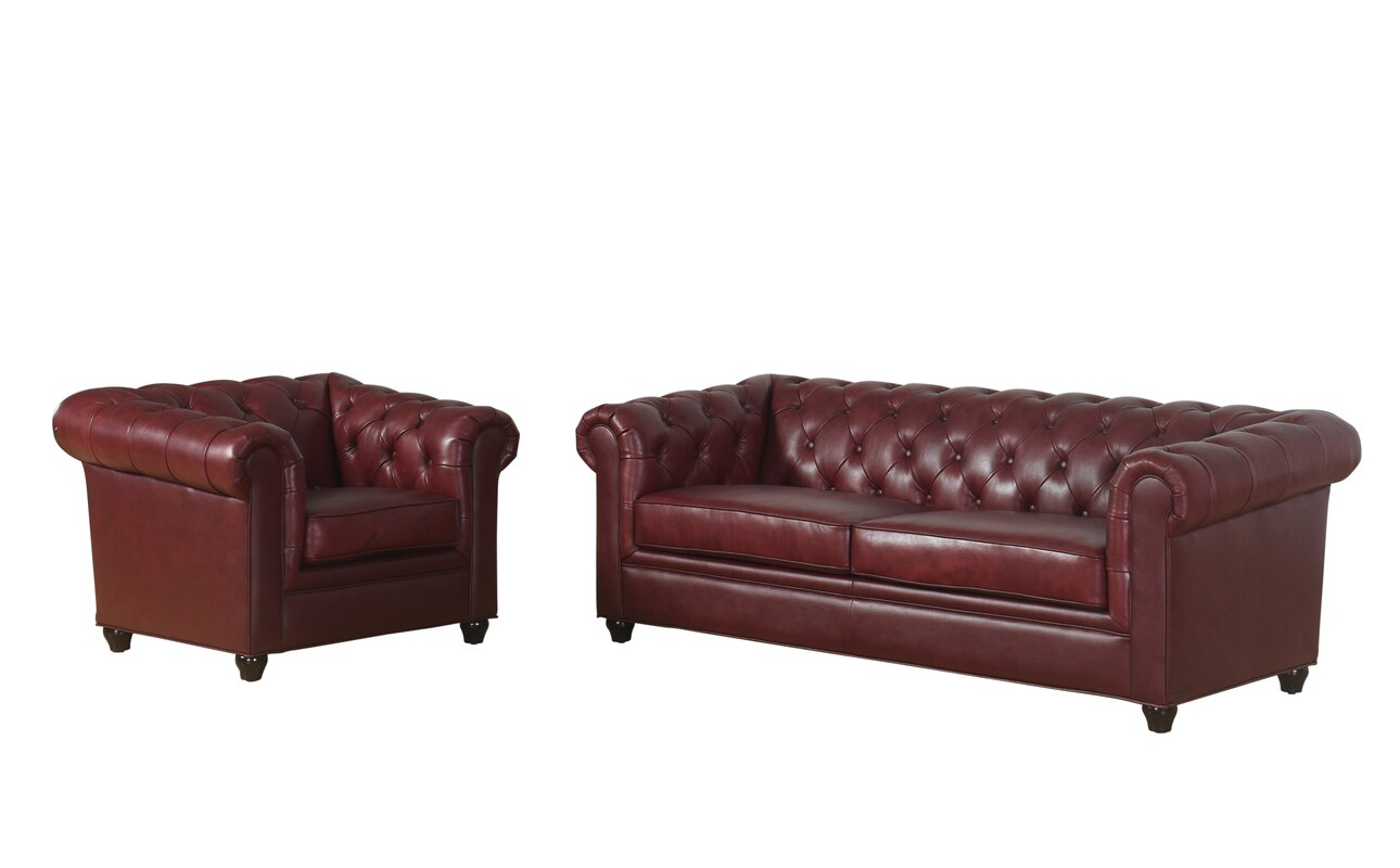 Nice Andria Leather Chesterfield Sofa
