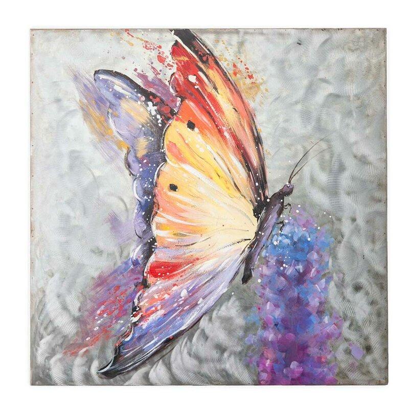 Wind Weather Handcrafted Butterfly Metal Wall Art Wayfair