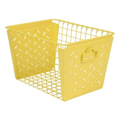 Turn on the Brights Metal Basket Color: Yellow