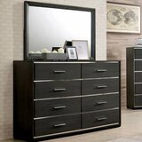 Soudan 8 Drawer Double Dresser with Mirror by Ebern Designs