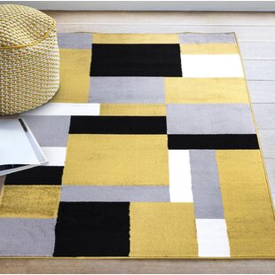 Evonne Tufted Grey/Yellow/White Indoor/Outdoor Rug Image