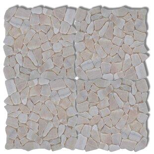 30.5cm x 30.5cm Pebble Marble Tiles (Set of 10) by Home Etc