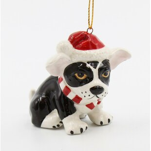 boston terrier christmas hanging figurine ornament - Boston Terrier Outdoor Christmas Decoration