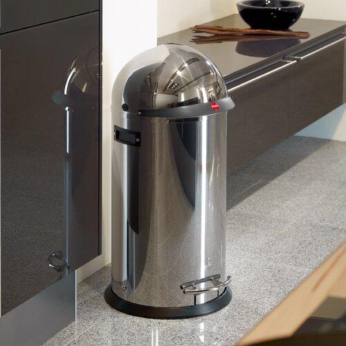 50 L Tretmülleimer KickVisier aus Metall   Küche und Esszimmer > Küchen-Zubehör   Edelstahl   Metall   Hailo