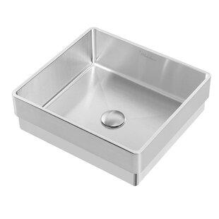 Whitehaus Collection Noah Plus Metal Square Vessel Bathroom Sink