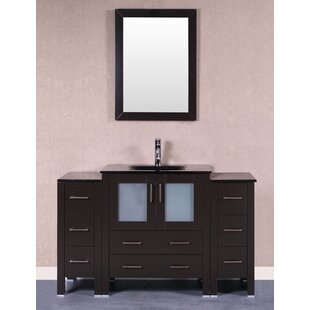 Camillo 54 Single Bathroom Vanity Set with Mirror by Bosconi