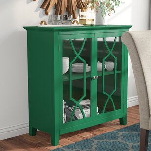 Black Mesa Display Accent Cabinet by Three Posts