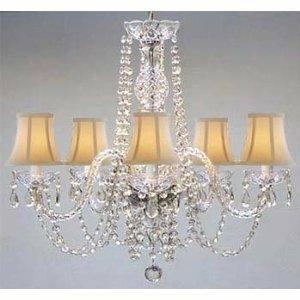 Kayser Swarovski 5-Light Shaded Chandelier by House of Hampton