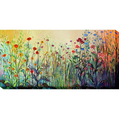 West of the Wind Outdoor Canvas Art All Weather 'Playful' Painting Print on Wrapped Canvas