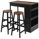 Stumbaugh 3 - Piece Counter Height Dining Set (Set of 3) by 17 Stories