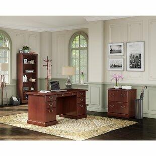 Bennington 3 Piece Desk Office Suite by Kathy Ireland Office Bush