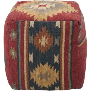Price Check Elissa Wool Pouf By Mistana
