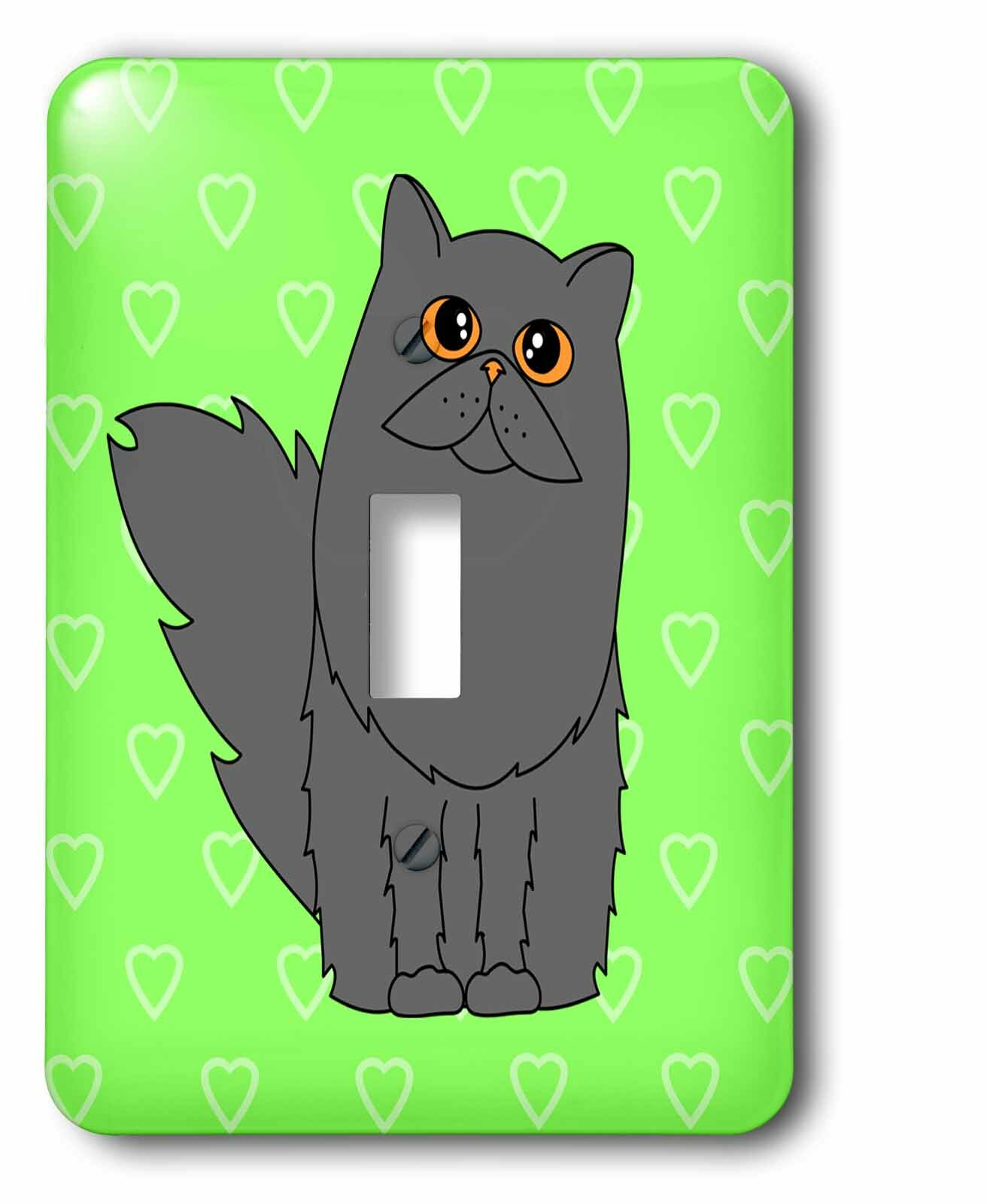 3drose Long Haired Persian Cat Hearts 1 Gang Toggle Light Switch Wall Plate Wayfair