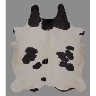 Crawford Holando Hand-Woven Cowhide Black/White Area Rug By Foundry Select