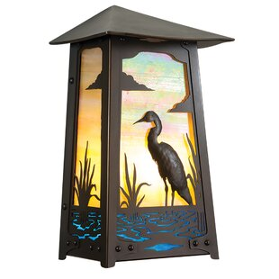 Reviews Cepeda Heron LED Outdoor Flush Mount By Longshore Tides
