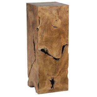 Slice Decorative Teak Pedestal by Ibolili