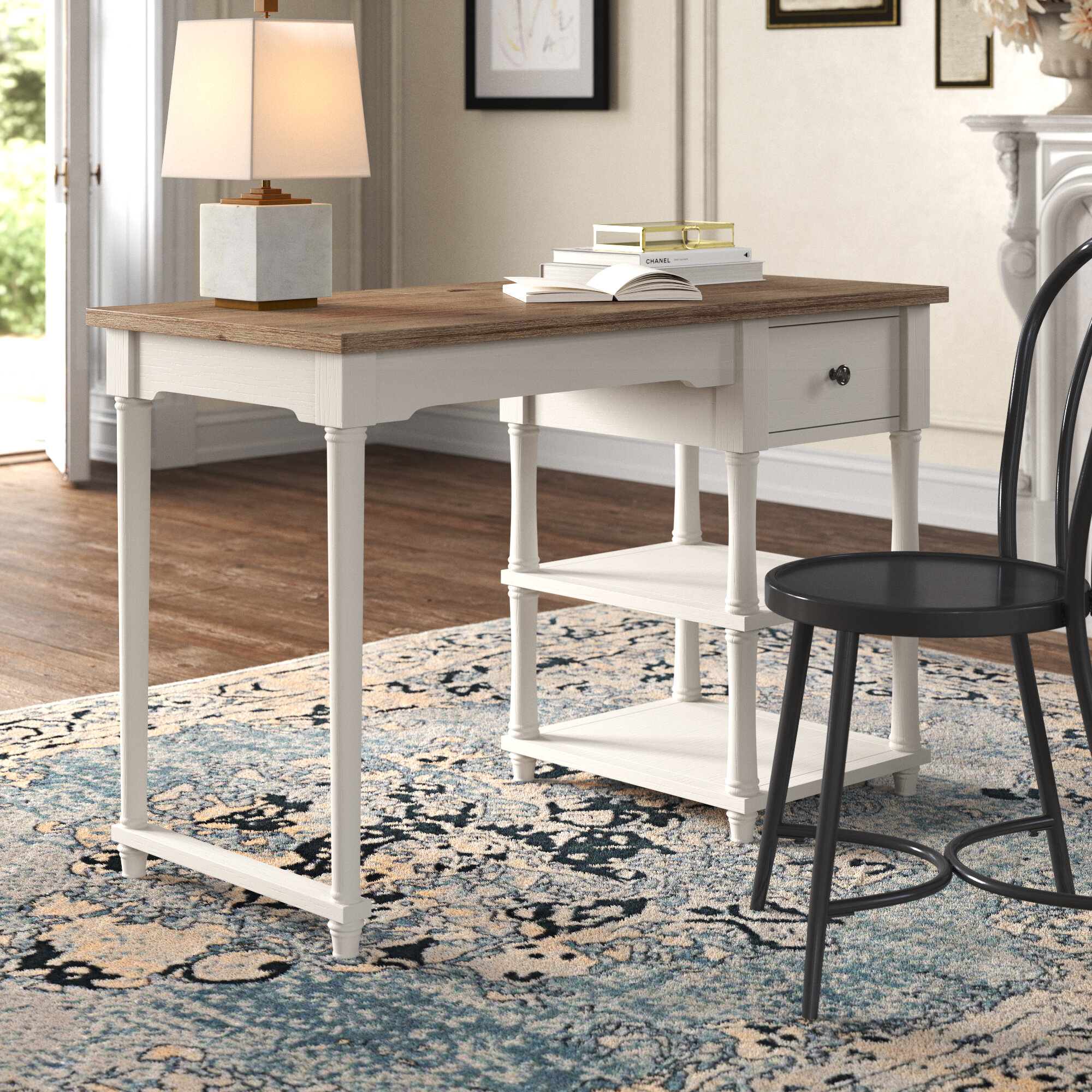 Kelly Clarkson Home Belfort Usb Charging Rectangular Desk And Chair Set Reviews