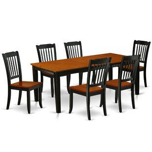 Kondo 7 Piece Extendable Solid Wood Dining Set