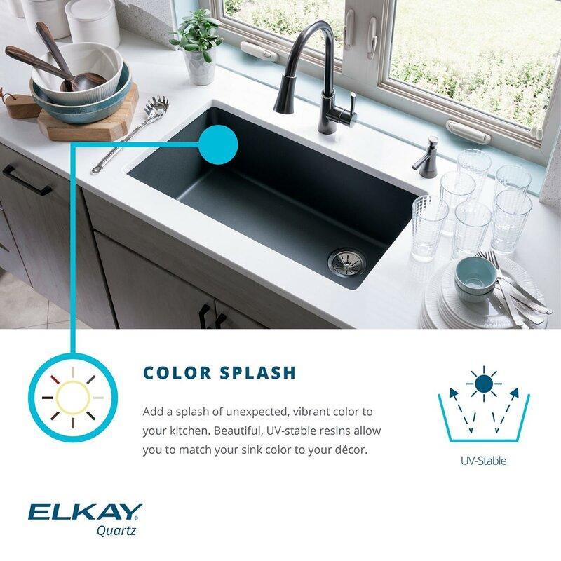quartz classic 33   x 20   undermount kitchen sink elkay quartz classic 33   x 20   undermount kitchen sink  u0026 reviews      rh   wayfair com