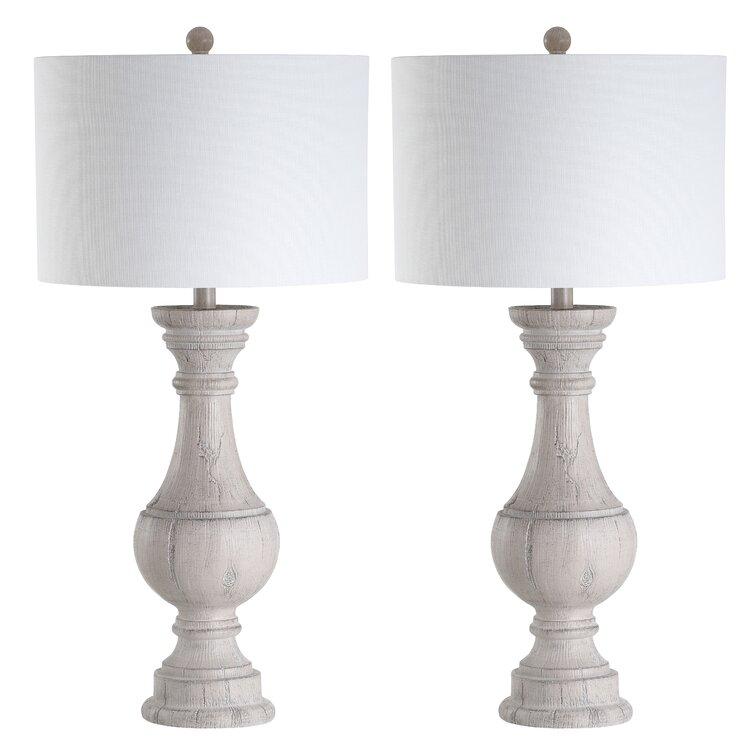 """Elvis 31.25"""" White Table Lamp Set"""