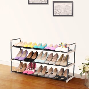 Order 3-Tier 15 Pair Stackable Shoe Rack By Songmics