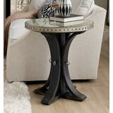 Sanctuary 2 Glass Top Pedestal End Table by Hooker Furniture