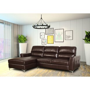 Ivy Bronx Aldreth Leather Sectional
