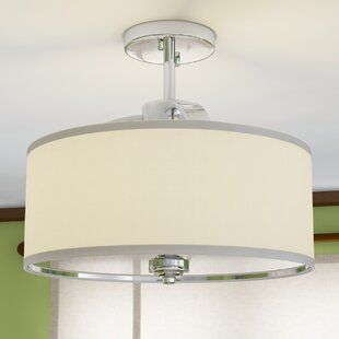 Kearse 3-Light Semi Flush Mount by Ebern Designs