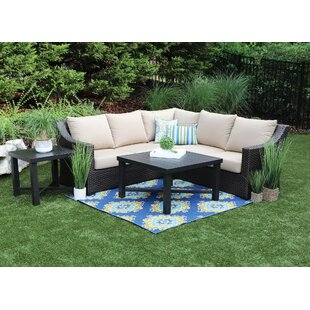 Labriola 5 Piece Sunbrella Sectional Set with Cushions (Set of 5) by Bayou Breeze