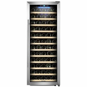 80 Bottle Single Zone Freestanding Wine Cooler by Kalamera