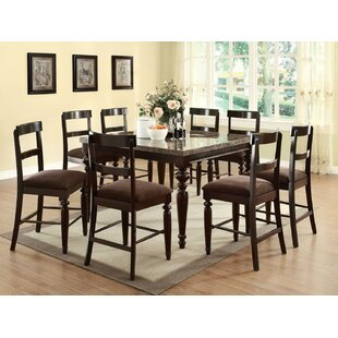 Fleur De Lis Living Shefford 9 Piece Pub Table Set
