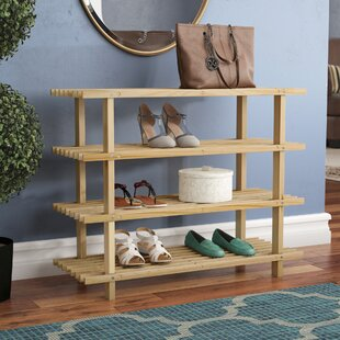 4-Tier Wood 12 Pair Shoe Rack By Marlow Home Co.