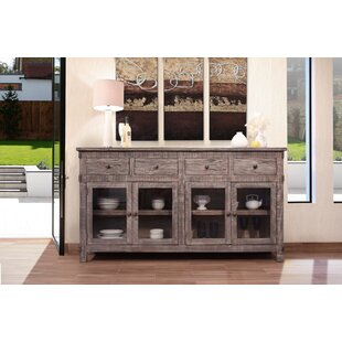 Glenford 4 Drawer 4 Glass Door Sideboard by August Grove