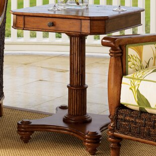 Bargain Island Estate End Table with Storage By Tommy Bahama Home