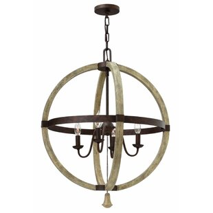 Lark Manor Oceane 4-Light Globe Chandelier