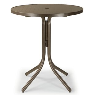 Aluminum Slat Round Chat Table